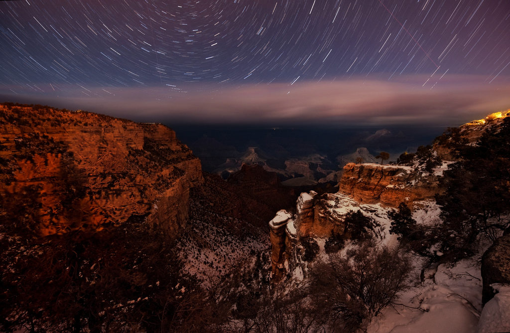 Grand Canyon National Park View at Night