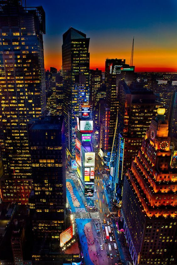 Time Square New York City At Night