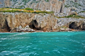 View From The Four Main Caves Constituting the Gorham's Cave Complex From The Sea - Photo Credits From UNESCO