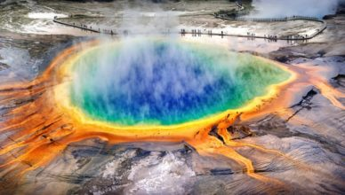 Grand Prismatic Spring Facts - Midway Geyser, Yellowstone National Park